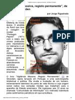 Vigilância Massiva, Registo Permanente, De Edward Snowden