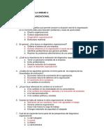 Cuestionario Diseño organizacional