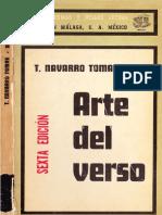 Tomas Navarro Tomas Arte Del Verso 1975