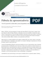 Fábula Da Aposentadoria - Economia - Estadão