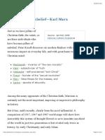 The Pillars of Unbelief—Karl Marx by Peter Kreeft