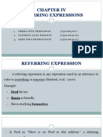 PPT LINGUISTICS - Referring Expression