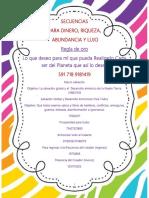 Secuencias para Dinero Riqueza Abundancia Y Lujo.docx