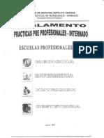 Reglamento Internado Unfv 2018 - 2019