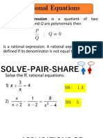 Rational Equations and Inequalities