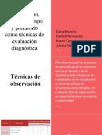 Técnicas de evaluación diagnóstica