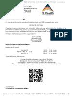 Felicitaciones! Ha Sido Invitado Como Visitante Extemin Por Dia - Perumin34 - Convención Minera