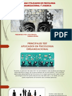 Principales Test en Psicologia Oreganizacional y Juridica