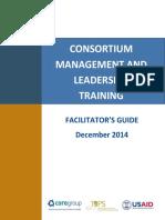 Consortium Management and Leadership Training Facilitators Guide