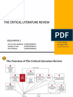 Metode Penelitian (The Critical Literatur Review)