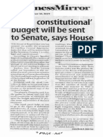 Business Mirror, Sept. 30, 2019, Valid, constitutional budget will be sent to Senate, says House.pdf