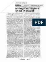 Philippines Star, Sept. 30, 2019, New mining tax regime pushed in House.pdf