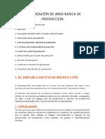Organizacion del area basica de produccion