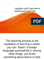 Language Acquisition and Overview of Language Teaching and Learning