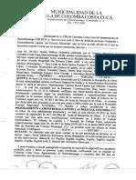Ejemplo de resolución municipal