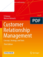 Customer Relationship Management-Concept, Strategy, And Tools