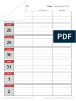 Simple Weekly Schedule
