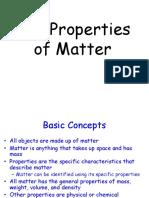 Properties of Matter Presentation