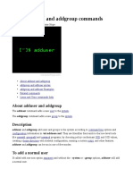 Adduser and Addgroup Commands