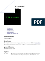 Groupadd Command