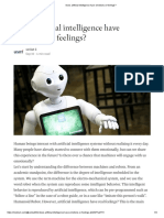 Does Artificial Intelligence Have Emotions or Feelings