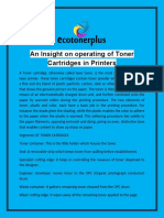 An Insight on Operating of Toner Cartridges in Printers