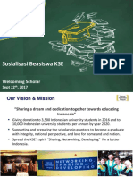 Sosialisasi Sistem Beasiswa KSE - 060817