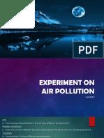Air Pollution Experiment