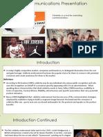 Marketing Communications Presentation 01