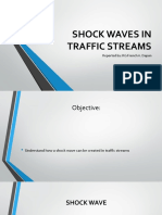 Shock Waves in Traffic Streams