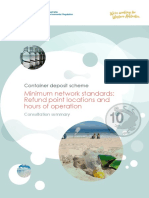 Consulation Summary 14 May CDS-Minimum Network Standards