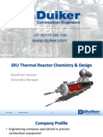310 SRU Thermal Reactor Chemistry and Design SRU Buenos Aires 2018