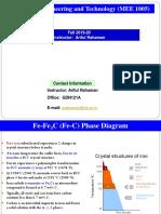 FALLSEM2019-20 MEE1005 ETH VL2019201001078 Reference Material I 29-Aug-2019 Fe-Fe3C Phase Diagram