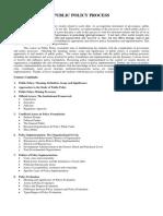 1. Syllabus -Public Policy Processes