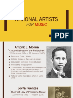 National Artists for Music