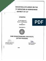 PhD -Synopsis- In Geography-SVU- Joesph K. J