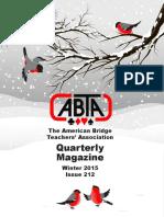 ABTA Quarterly Winter 2015