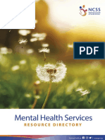 Directory on Mental Health Services