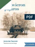 Y Llovieron Pajaros - Jocelyne Saucier
