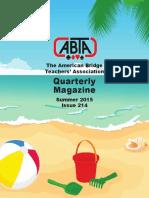 214 ABTA Quarterly Summer 2015