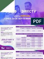 Oferta 23 Septiembre 2019 Directv