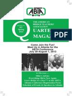 207 ABTA Quarterly Spring 2013