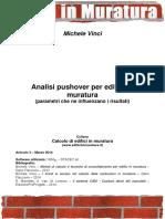 Analisi Pushover Muratura