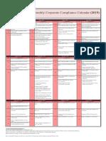 ASTAX Corporate Compliance Calendar 2019 ORI.