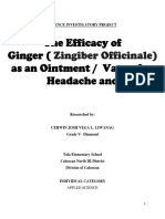 The Efficacy of Ginger