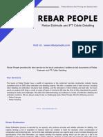Rebar People - Rebar Estimate and PT Cable Detailing