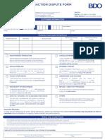 Transaction Dispute Form 2019