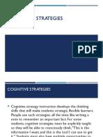 3.1 Cognitive Strategies (1)