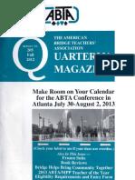 205 ABTA Quarterly Fall 2012
