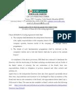 Familiarisation Programme for Directors
